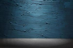 blauw geschilderde muur foto