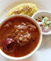 curry en rijst bord foto