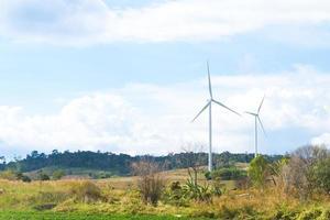 windturbines op het platteland