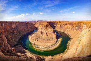 hoefijzerbocht in Arizona, VS. foto
