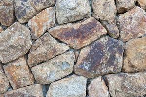 gestapelde stenen muur