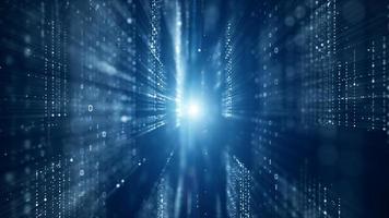 digitale cyberspace met digitale datanetwerkverbindingen foto