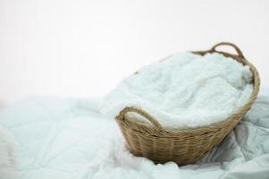 handgemaakte mand en witte doek foto