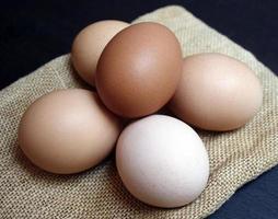 natuurlijke bruine eieren