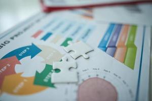 zakelijke documenten over papieren met cijfers en grafieken