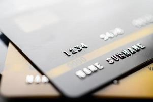 creditcards op elkaar gestapeld