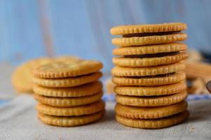 koekjes gerangschikt op een doek