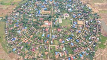 luchtfoto van een dorp foto