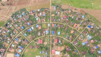 luchtfoto van huizen foto