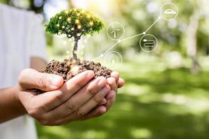 red de wereld en het innovatieconcept