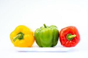 geelgroene en rode paprika