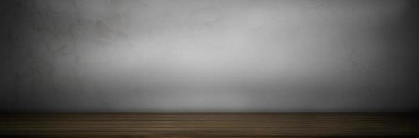 houten tafel op grijze achtergrond foto