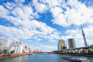tokyo sky tree en gebouwen van tokyo foto