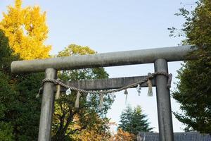 heiligdom poort in tokyo, japan foto