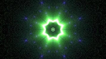 kleurrijke lichten en vormen caleidoscoop 3d illustratie voor achtergrond of behang