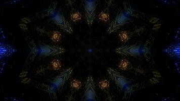 kleurrijke licht en vormen caleidoscoop 3d illustratie voor achtergrond of behang foto