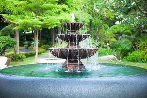 fontein in het park foto