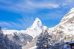 Matterhorn Peak, Zermatt, Zwitserland foto