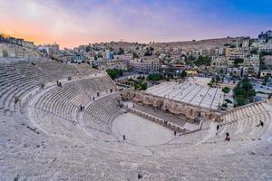 Romeins theater in Amman. Jordanië, 2018