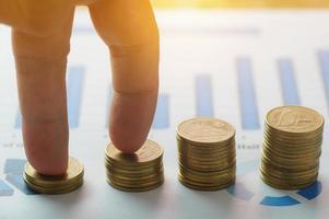 vingers intensivering op geldmunten