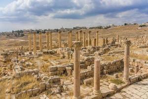 oude Romeinse ruïnes in Jerash, Jordanië foto