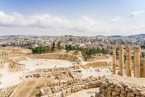 forum in gerasa, het huidige jerash, jordanië foto