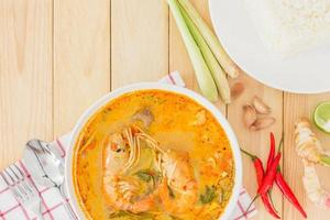 tom yam kong soep, typisch in thailand