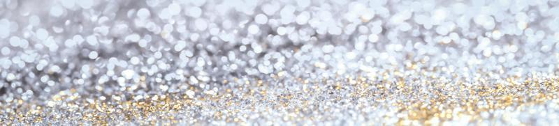 zilveren glitter bokeh banner foto