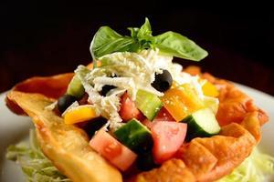 salade met gebakken schelp foto