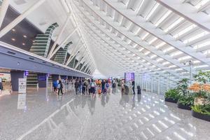 taiwan taoyuan internationale luchthaven in taipei, 2017 foto