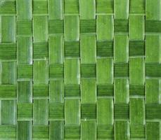 groene geweven bananenblad achtergrond foto