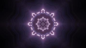 kleurrijke caleidoscoop 3d illustratie ontwerp voor achtergrond of behang foto