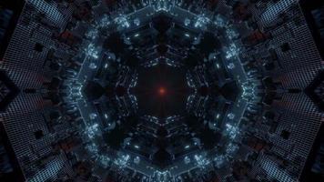 kleurrijke caleidoscoop 3d illustratie ontwerp voor achtergrond of behang