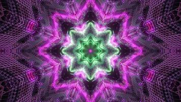 kleurrijke vormen en ontwerp caleidoscoop 3d illustratie voor achtergrond of behang foto
