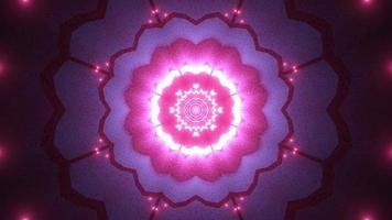 bloemvorm 3d illustratie caleidoscoop ontwerp voor achtergrond of behang