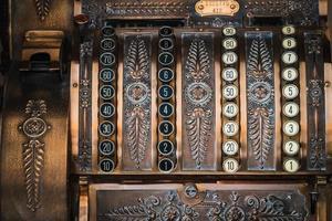 close-up van een antieke kassa