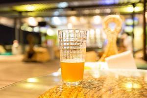 een glas bier