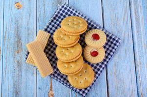 koekjes geplaatst op stof