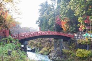 shinkyo-brug in nikko, japan foto