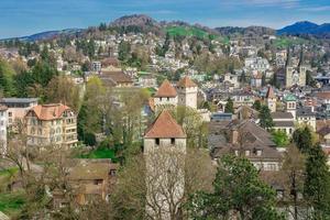 uitzicht op de stad Luzern, Zwitserland
