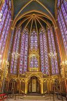 de sainte chapelle in parijs, frankrijk foto