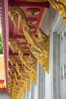 decorontwerp op een tempel in Thailand foto