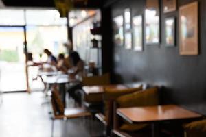 onscherpe restaurantachtergrond foto