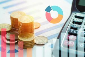 financieren kapitaal bank- en boekhoudconcept foto