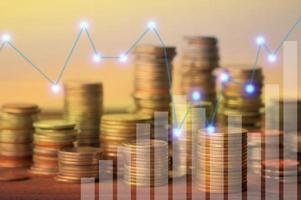 kapitaal en bedrijfsfinanciënconcept foto