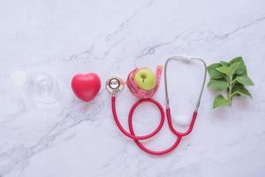 plat leggen van een goed gezondheidsconcept