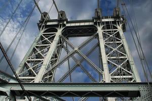 wiliamsburg brug in de stad van new york foto