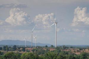 windturbines en wolken