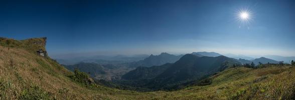 berglandschap gedurende de dag