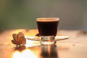 espresso en een bloem foto